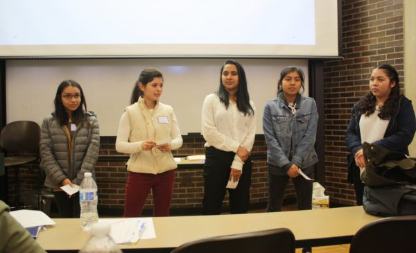 Interns presenting