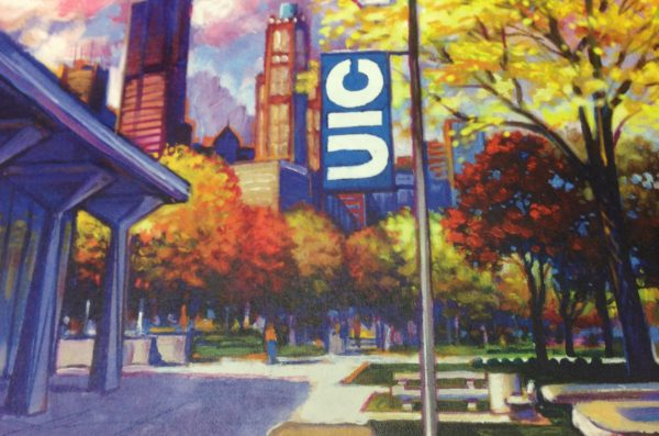 Illustration of UIC campus