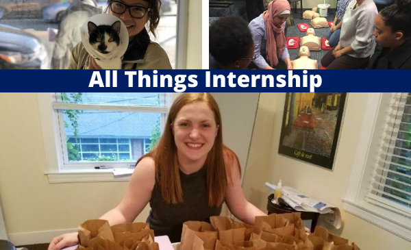 students at internships
