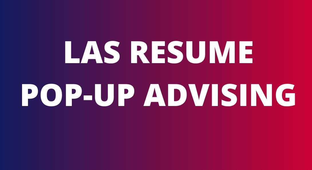 LAS resume pop-up advising