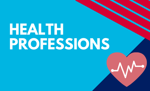 health professions with heart icon