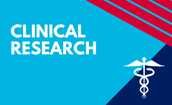 clinical research with medical symbol