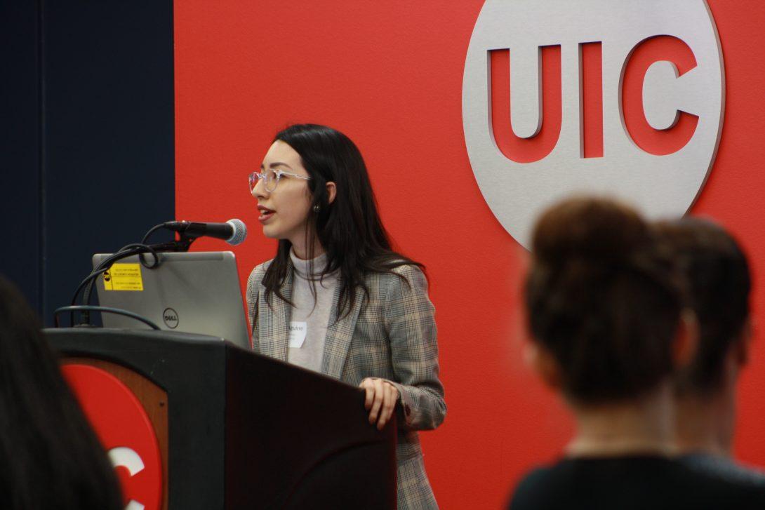 Guest speaker UIC podium